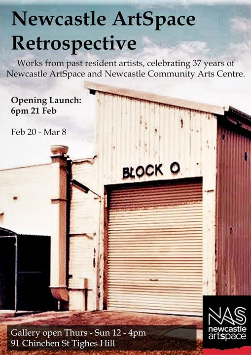 Newcastle ArtSpace Retrospective opening launch