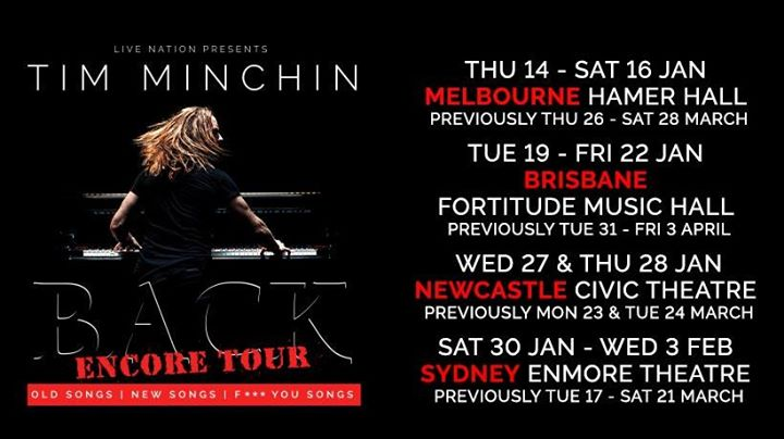 Tim Minchin – Rescheduled