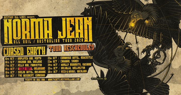 Norma Jean 'All Hail' Aus Tour – Newcastle *rescheduled*