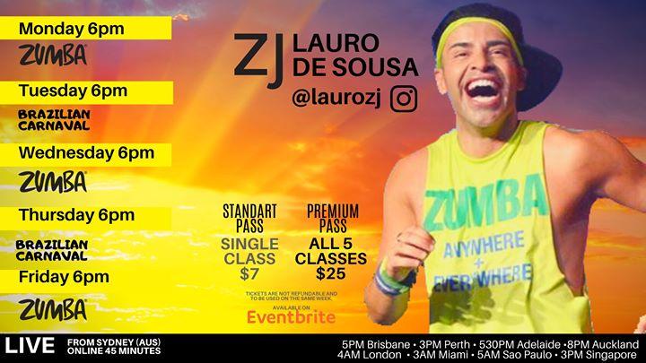 Virtual Zumba® with Lauro de Sousa