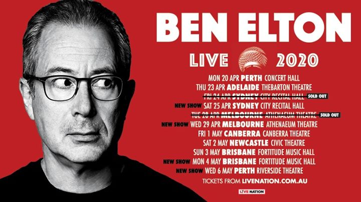 Ben Elton – Live 2020   Newcastle