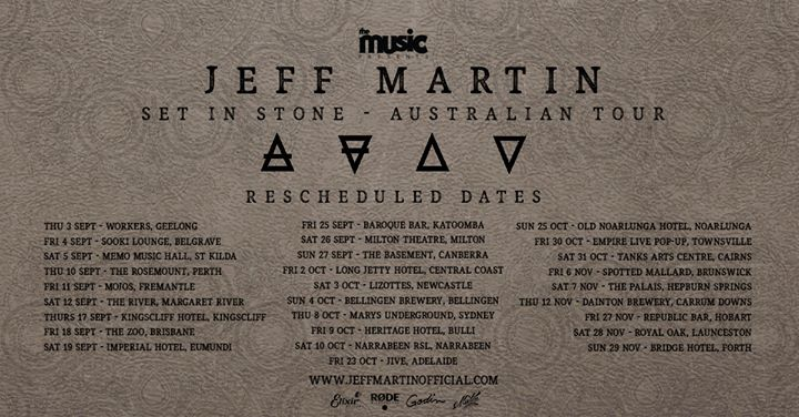 Jeff Martin – Set in Stone Australian Tour