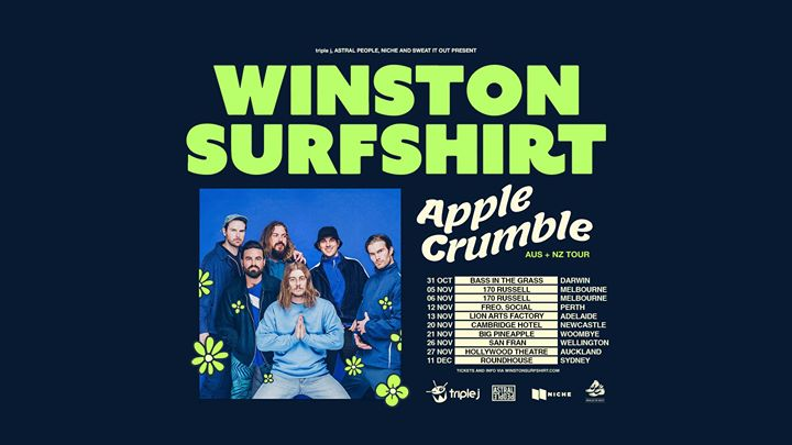 Winston Surfshirt – Apple Crumble Tour – Newcastle