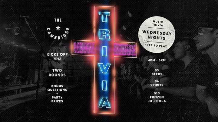 Music Trivia at The Cambridge | Every Wednesday