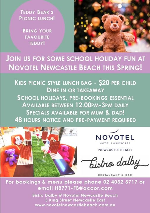 School Holiday's Kids Teddy Bear's Picnic
