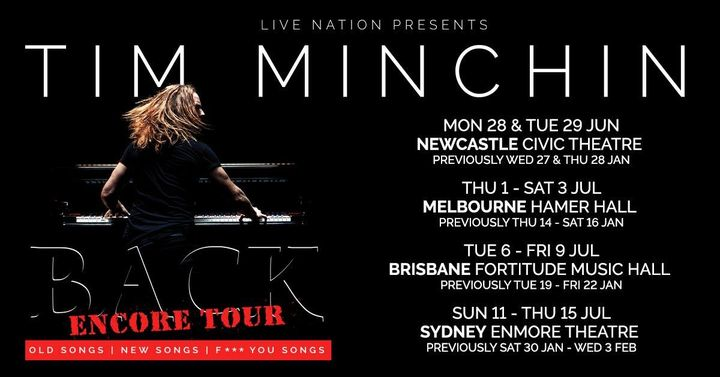 Tim Minchin Newcastle #2 [Rescheduled]