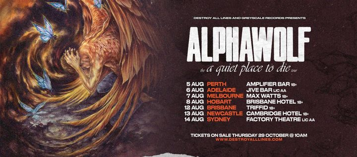 Alpha Wolf 'a quiet place to die' Aus Tour – Newcastle