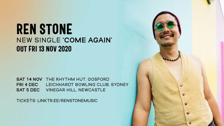 Ren Stone 'Come Again' single release, Newcastle