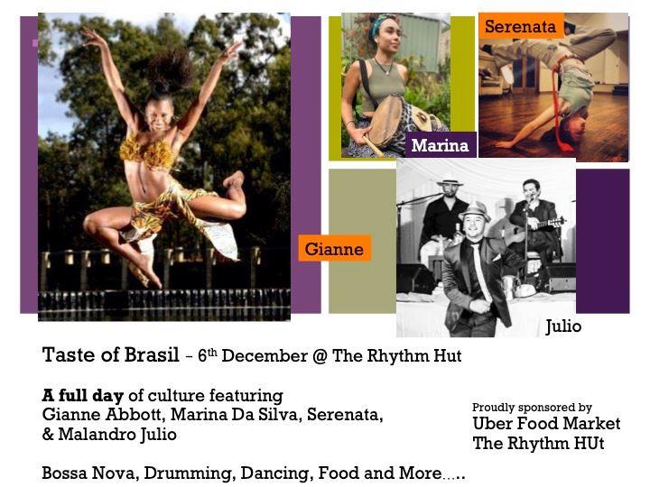 Taste of Brasil – Drum and Dance Workshops, Churrasco & Bossa Nova night