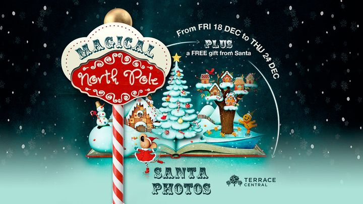 Free Santa Photos and Gift at the Magical North Pole