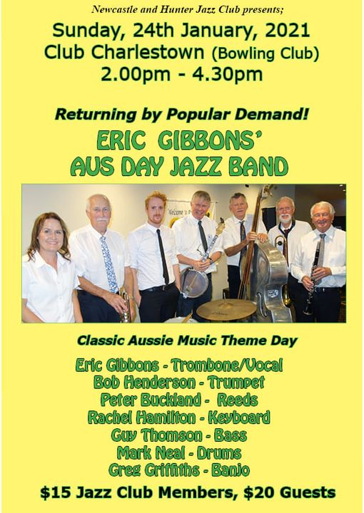 January Concert with Eric Gibbons Aus Day HJazz Band