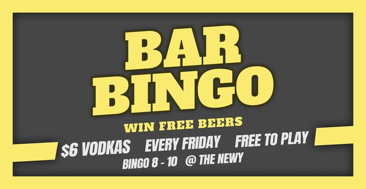 Bar Bingo at The Newy ~ Free To Play!