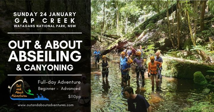 Out and About Abseiling & Canyoning – Gap Creek