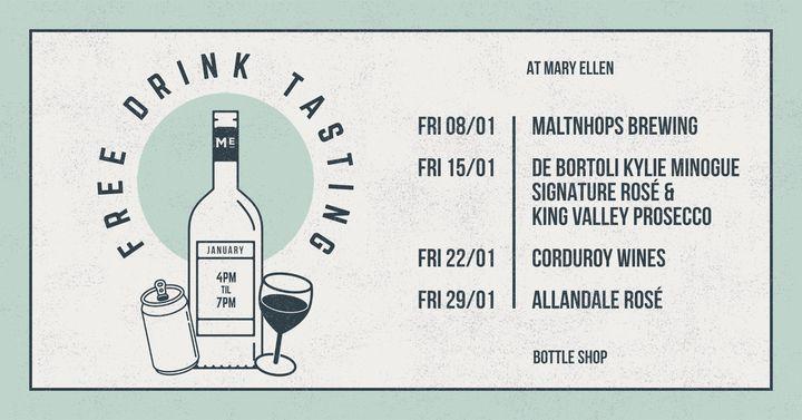 January Drink Tasting