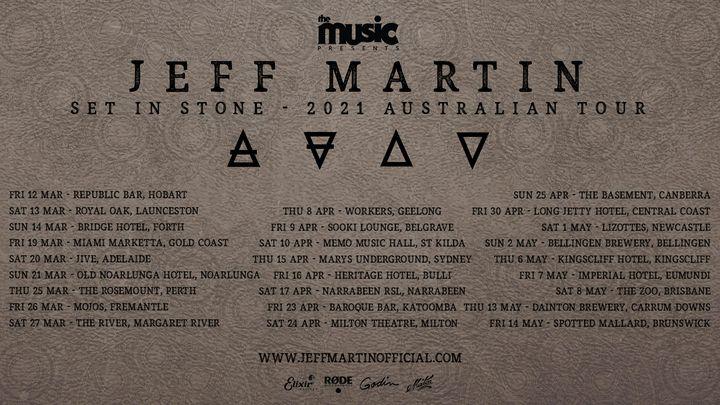 JEFF MARTIN: Set in Stone Australian Tour