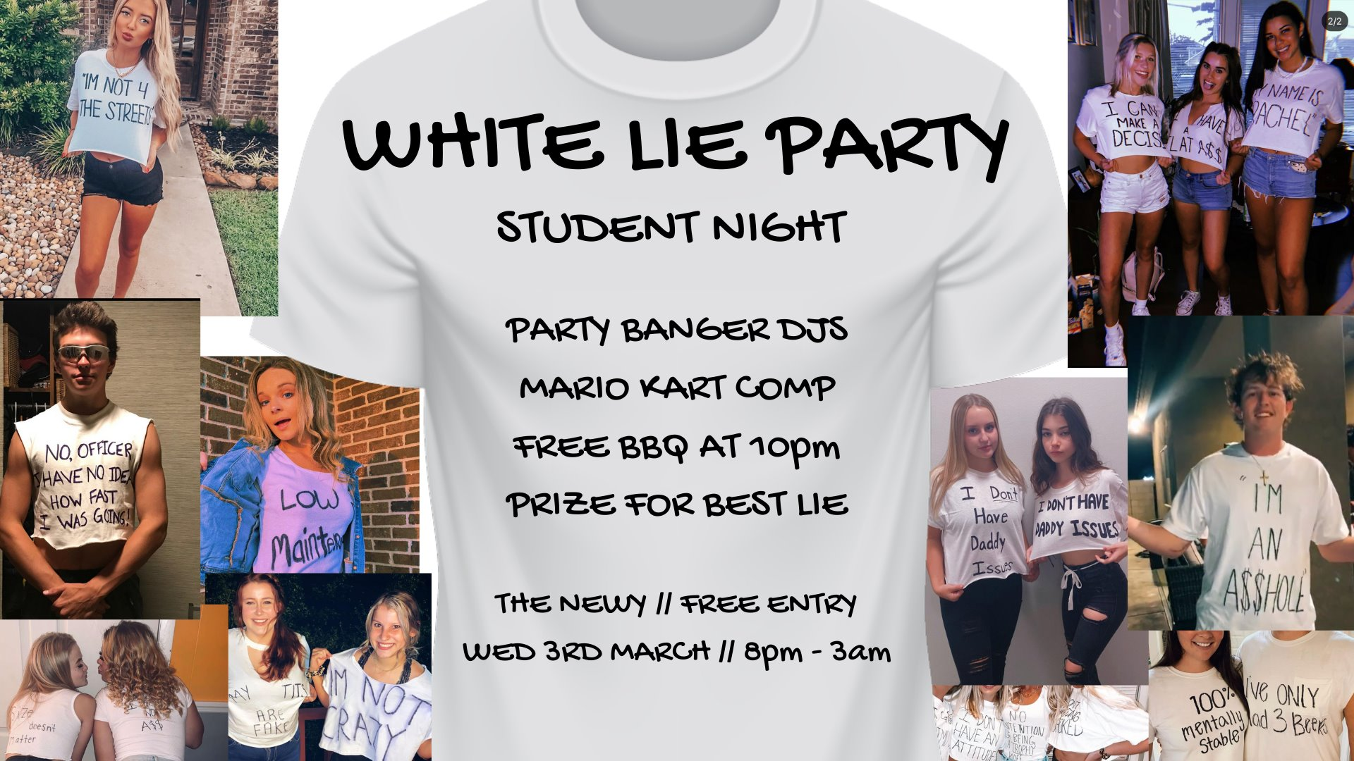White Lie Party ~ The Newy Student Night