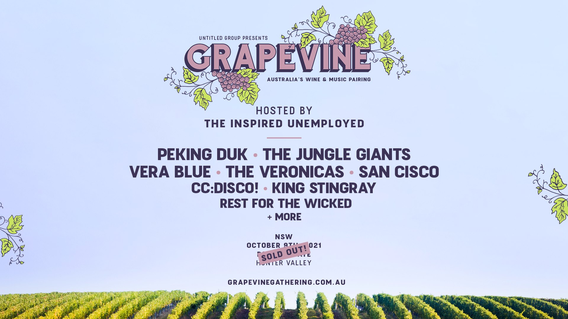Grapevine Gathering 2021 – NSW (SOLD OUT)