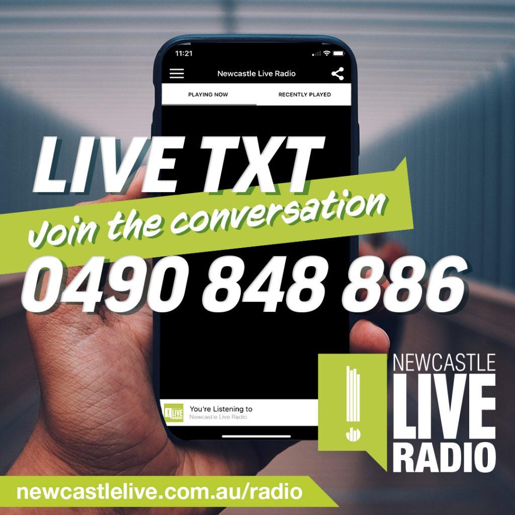 Newcastle Live Radio Text Line