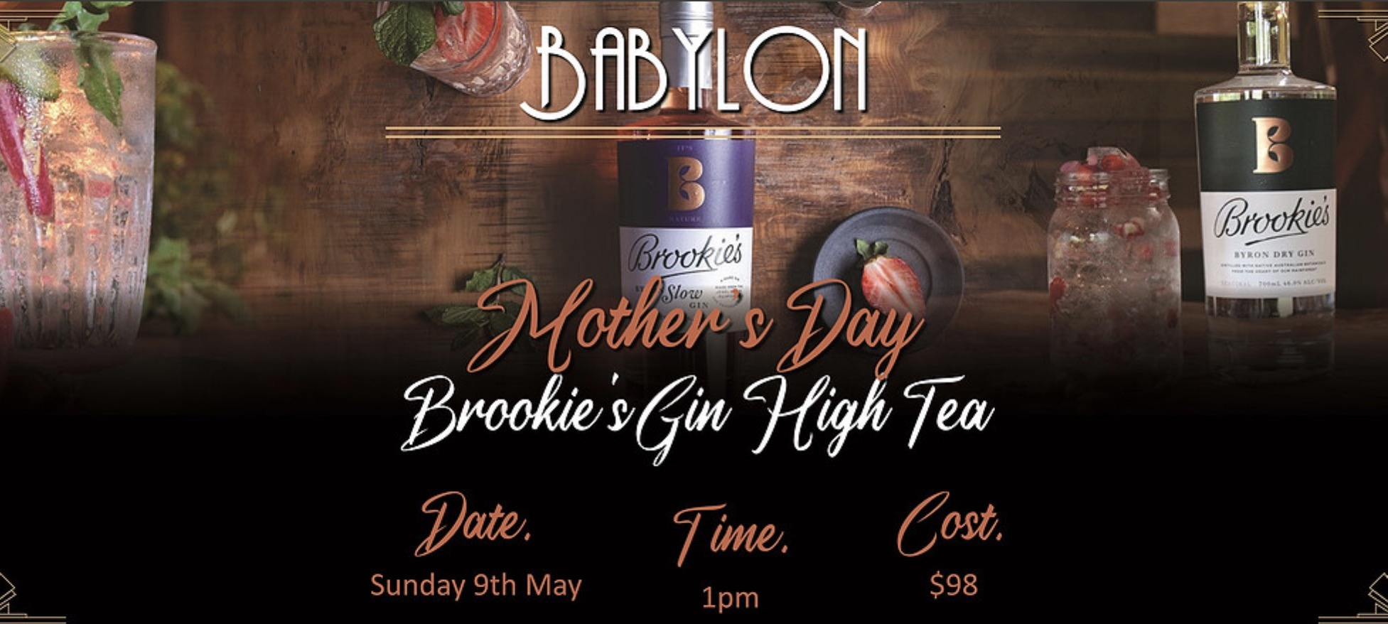 Mothers Day High Tea with Brookies Gin