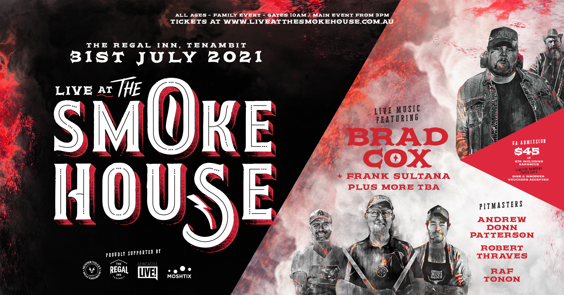 LIVE AT THE SMOKEHOUSE: Brad Cox & Frank Sultana with some of Australia's best pitmasters!
