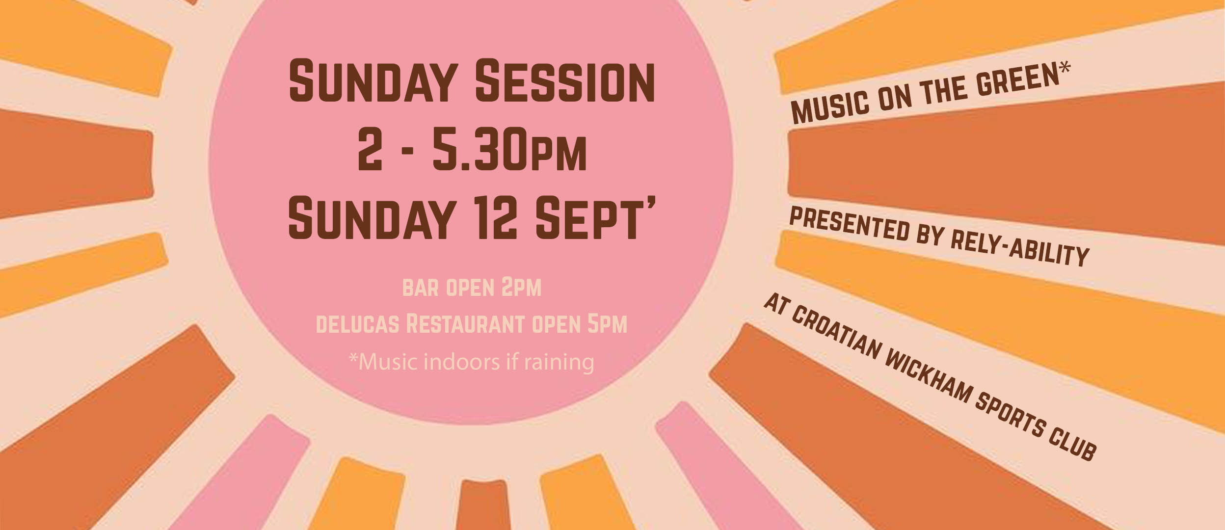 Sunday Session 2.00pm -5.30pm