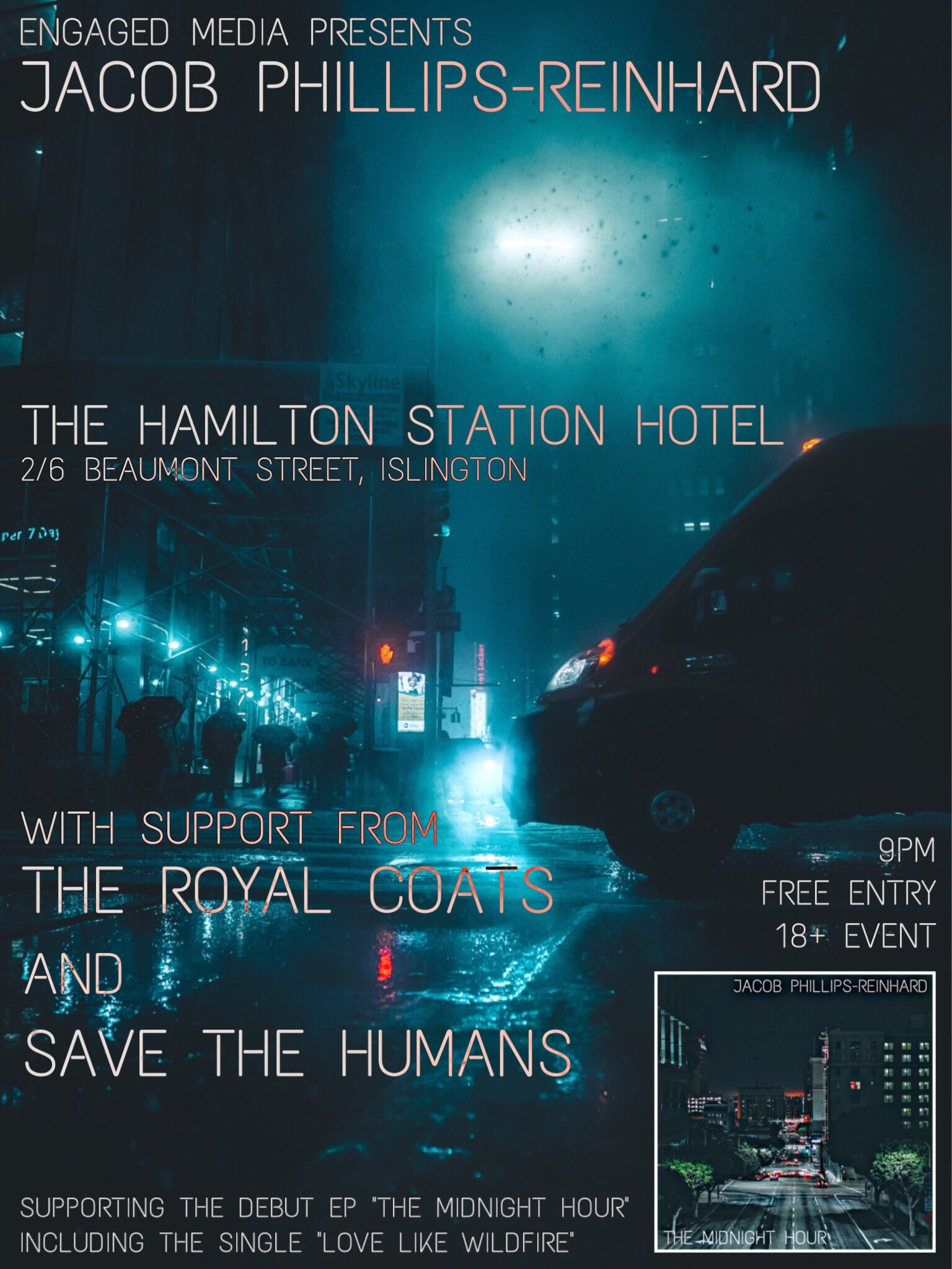 Jacob Phillips-Reinhard – The Midnight Hour LIVE at the Hamilton Station Hotel w/ guests