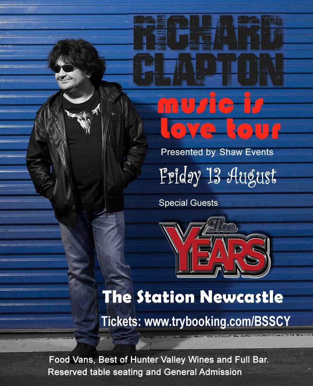 RICHARD CLAPTON music is love tour