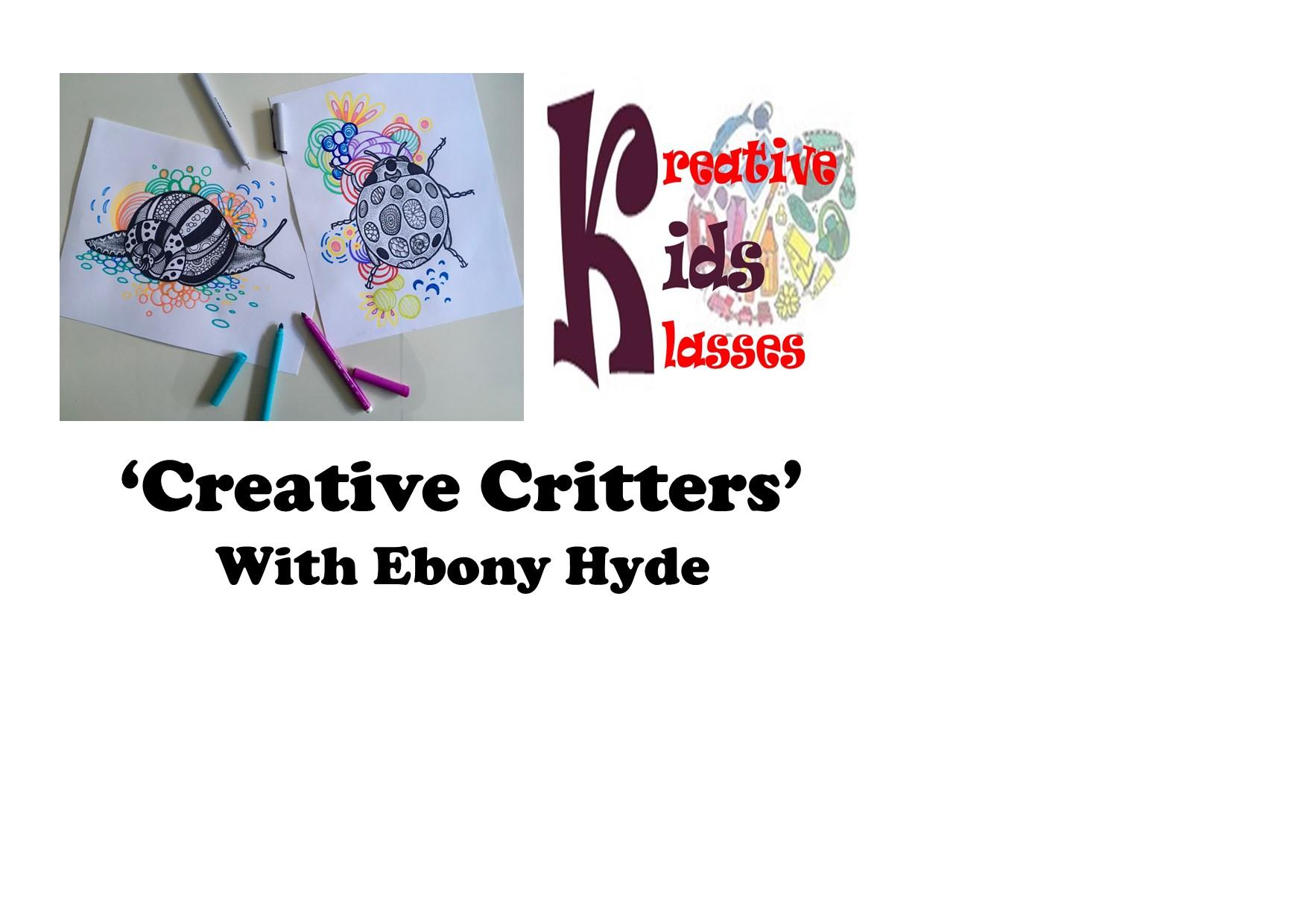 Creative Critters Drawing Class with Ebony Hyde – Kreative Kids Klasses